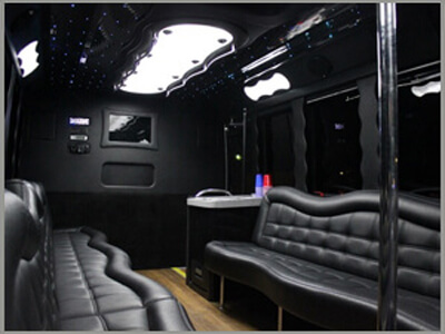 2015 Silver Tiffany Party Bus Limo